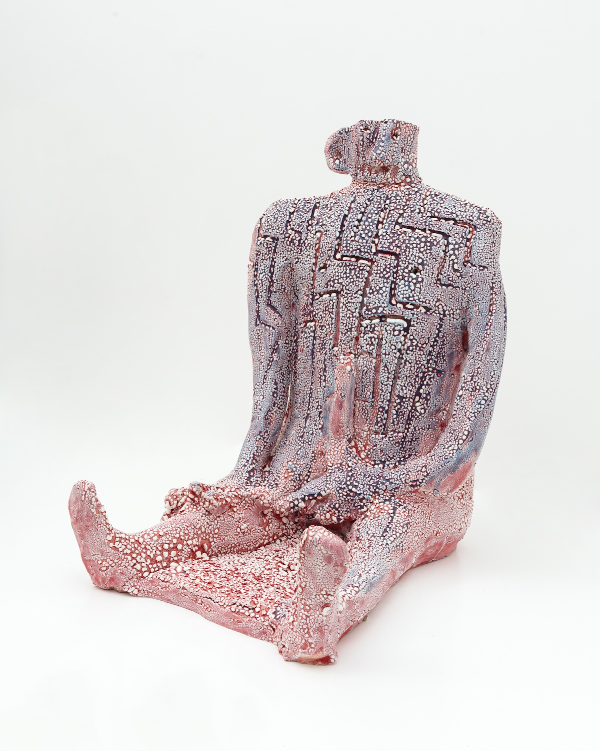 "William J. O'Brien  Untitled  2015 Glazed ceramic 23h x 16w x 22""d in WOB998"