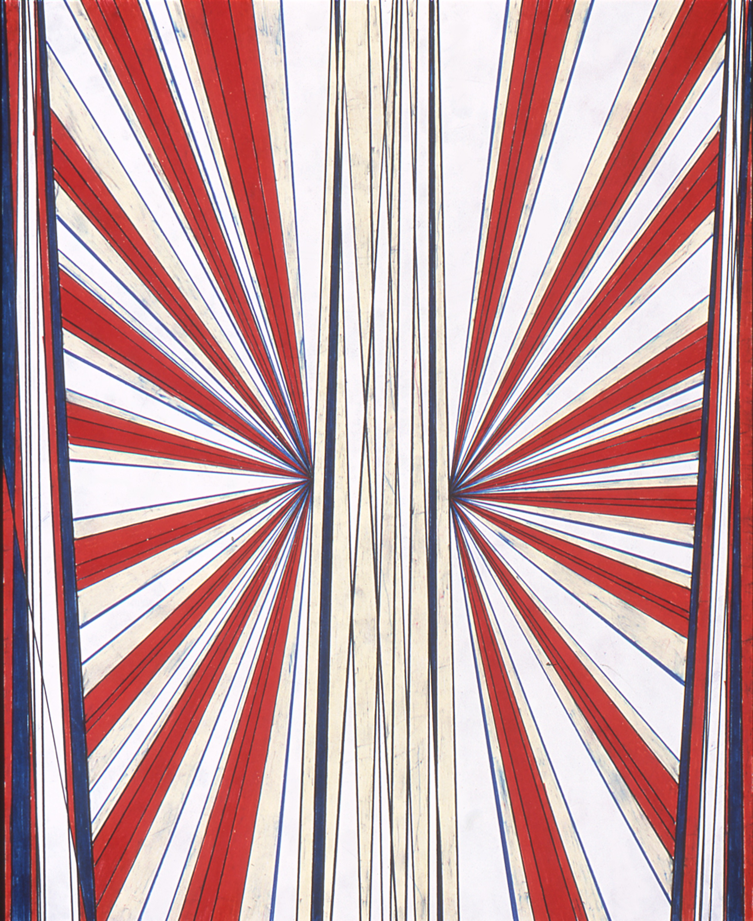 """Mark Grotjahn Untitled 2002 Colored pencil on paper 24"""" x 19"""""""
