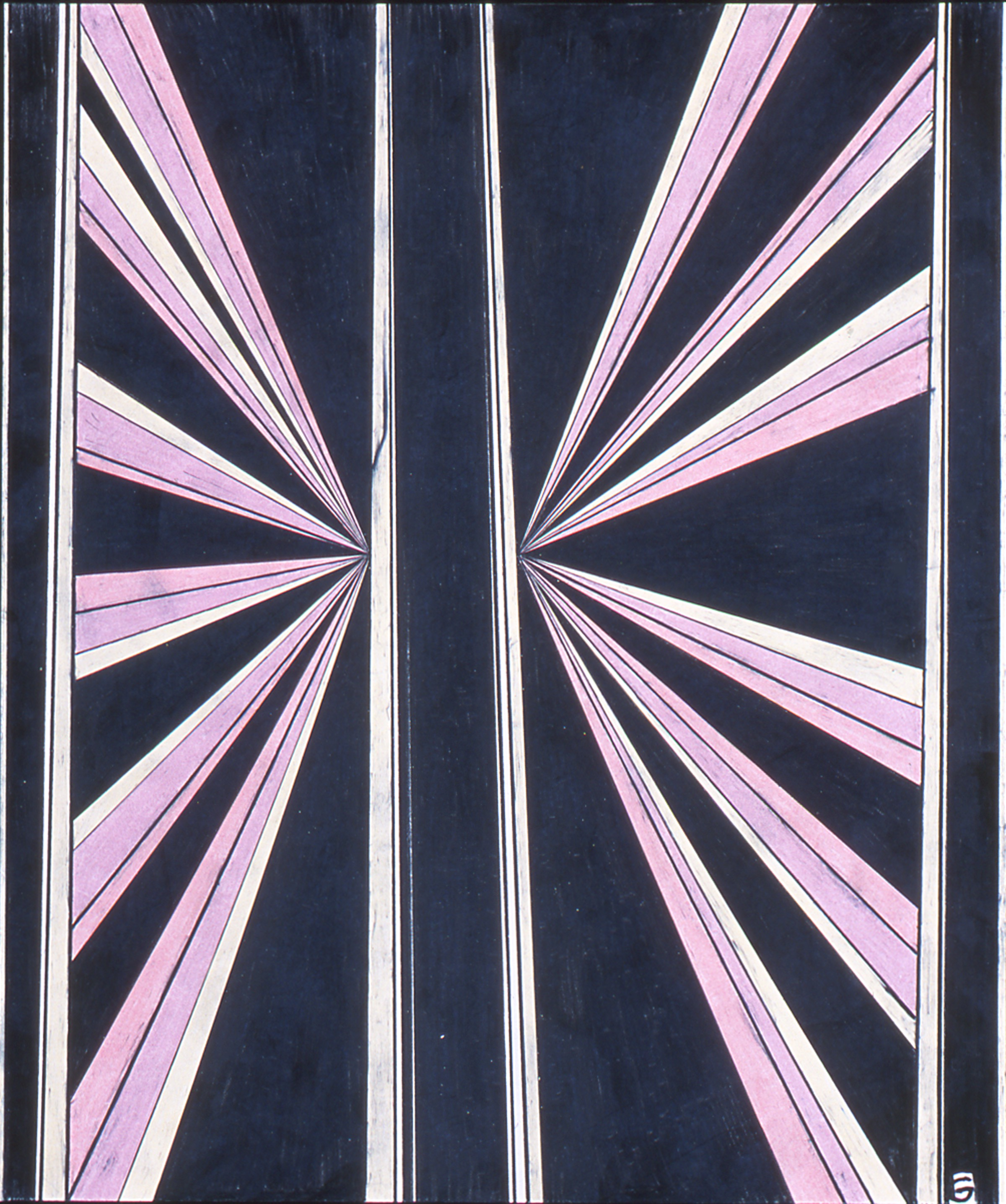 """Mark Grotjahn Untitled 2002 Colored pencil on paper 17"""" x 14"""""""