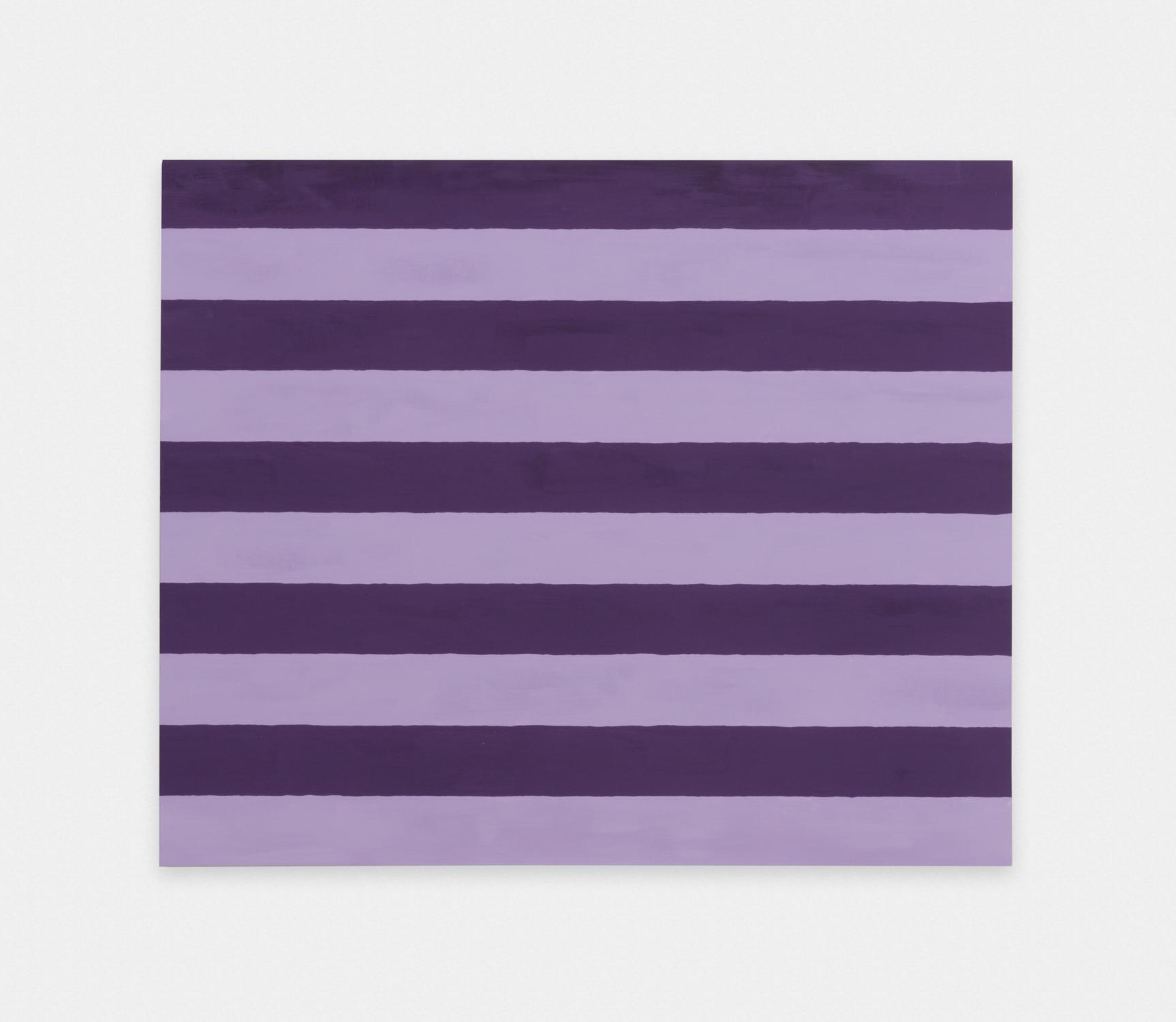 Matt Morris  Sleeping Sherrie (Two Inch Stripes #7)  2016 Casein on mahogany 20h x 24w in MMor003