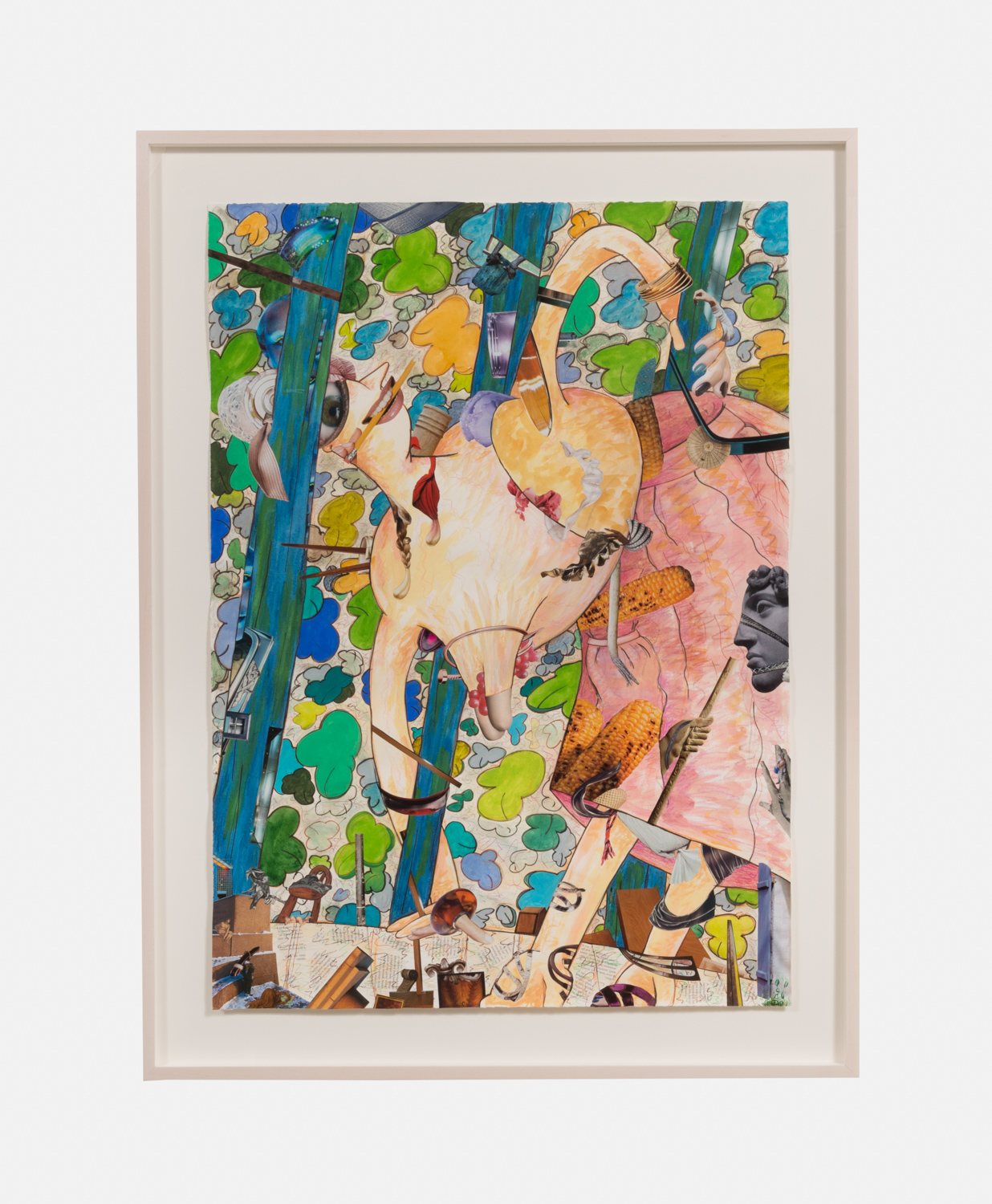 Gladys Nilsson  A Girl in the Arbor #6  2013 Mixed media on paper 41 ½h x 29 ¾w in GN001