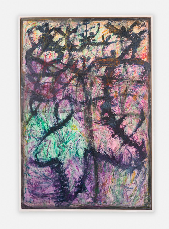 William J. O'Brien  Untitled  2016 Acrylic on canvas in artist frame 88h x 60w in WOB1079