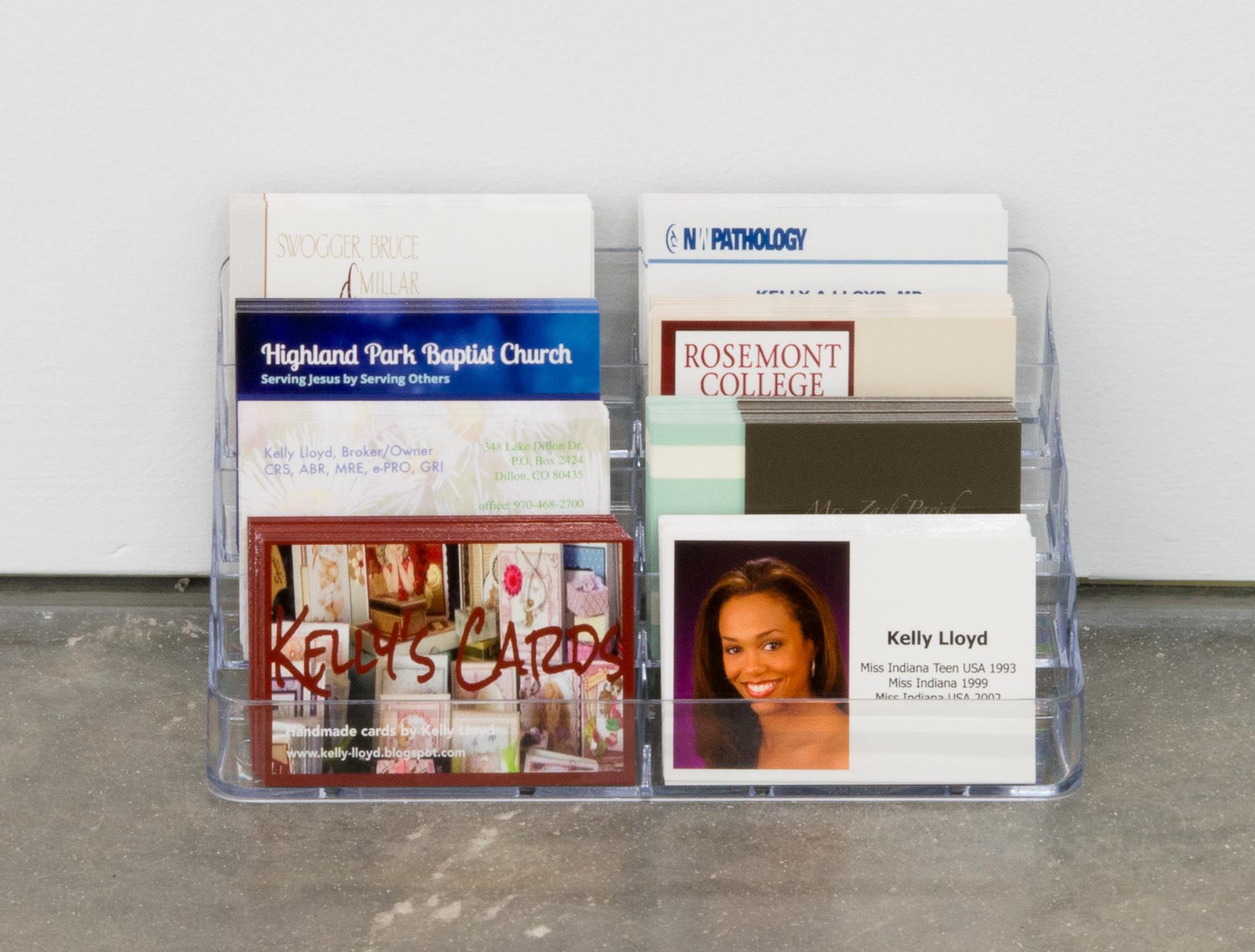Kelly Lloyd  Kelly Lloyd  2016 Business Cards 6h x 4w x 4d in KL002