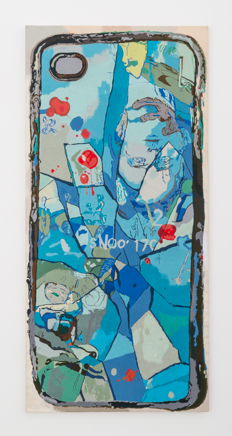Ivan Morley  A True Tale  2016 Thread on canvas 73h x 34w in IM002