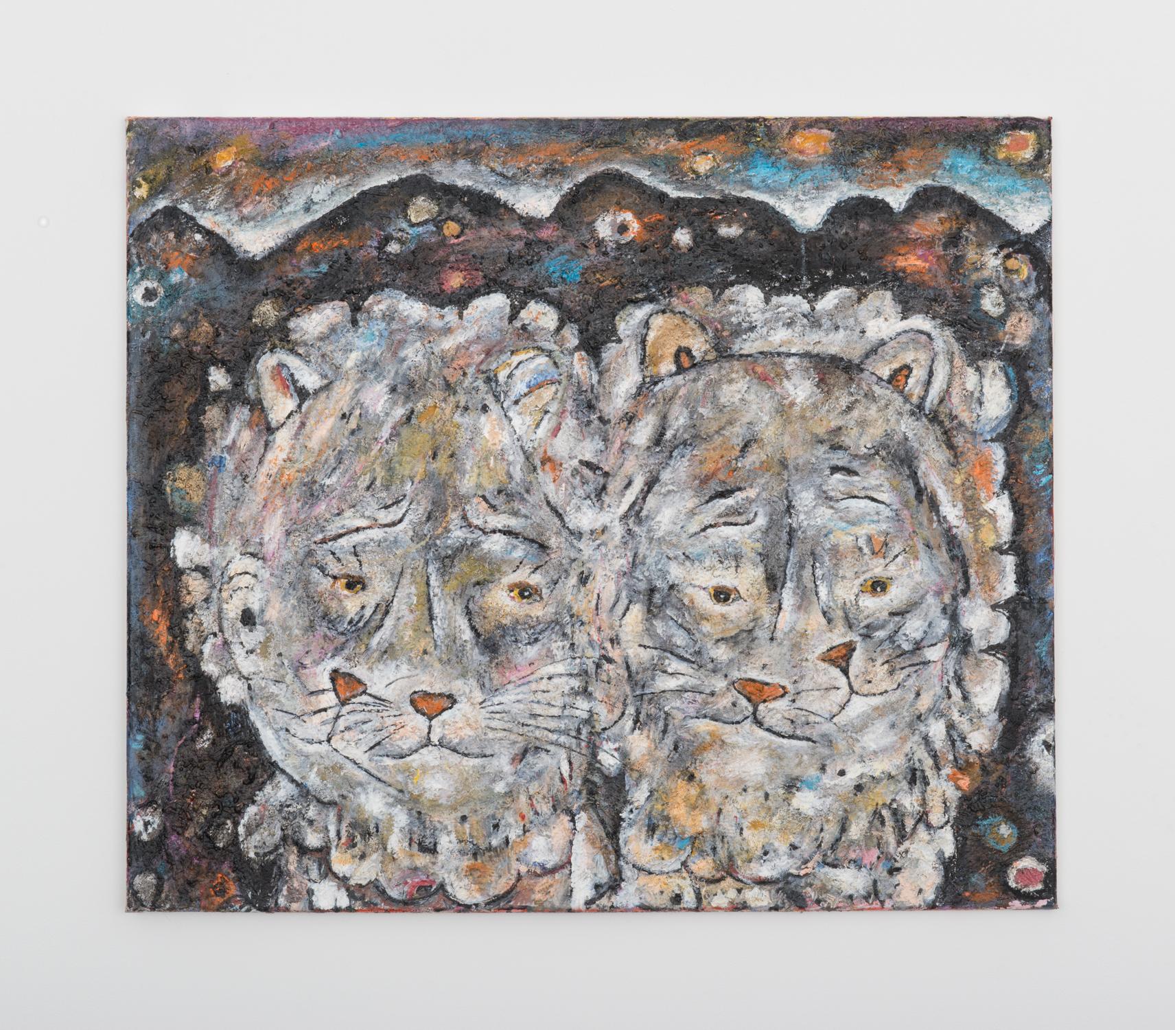 Ellen Gronemeyer  Step Brothers  2016 Oil on canvas 23 ⅔h x 27 ½w in EG010