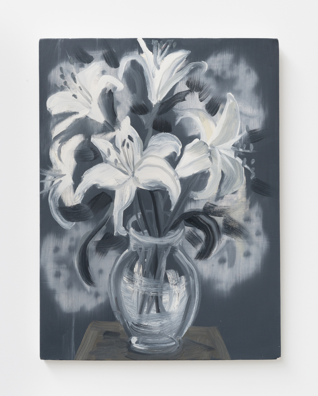 Ann Craven  Flowers (Feb 15)  2010 Oil on canvas 24h x 18w in AC147