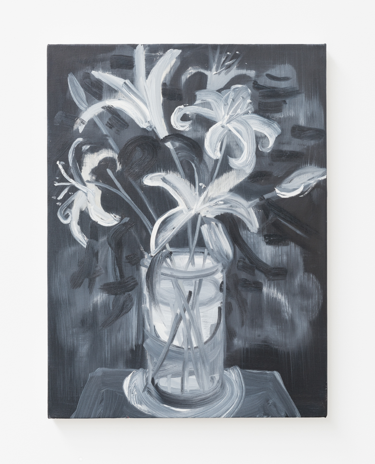 Ann Craven  Flowers, Tiger Lilies #1 (Jan 3, 2010)  2010 Oil on canvas 24h x 18w in AC145