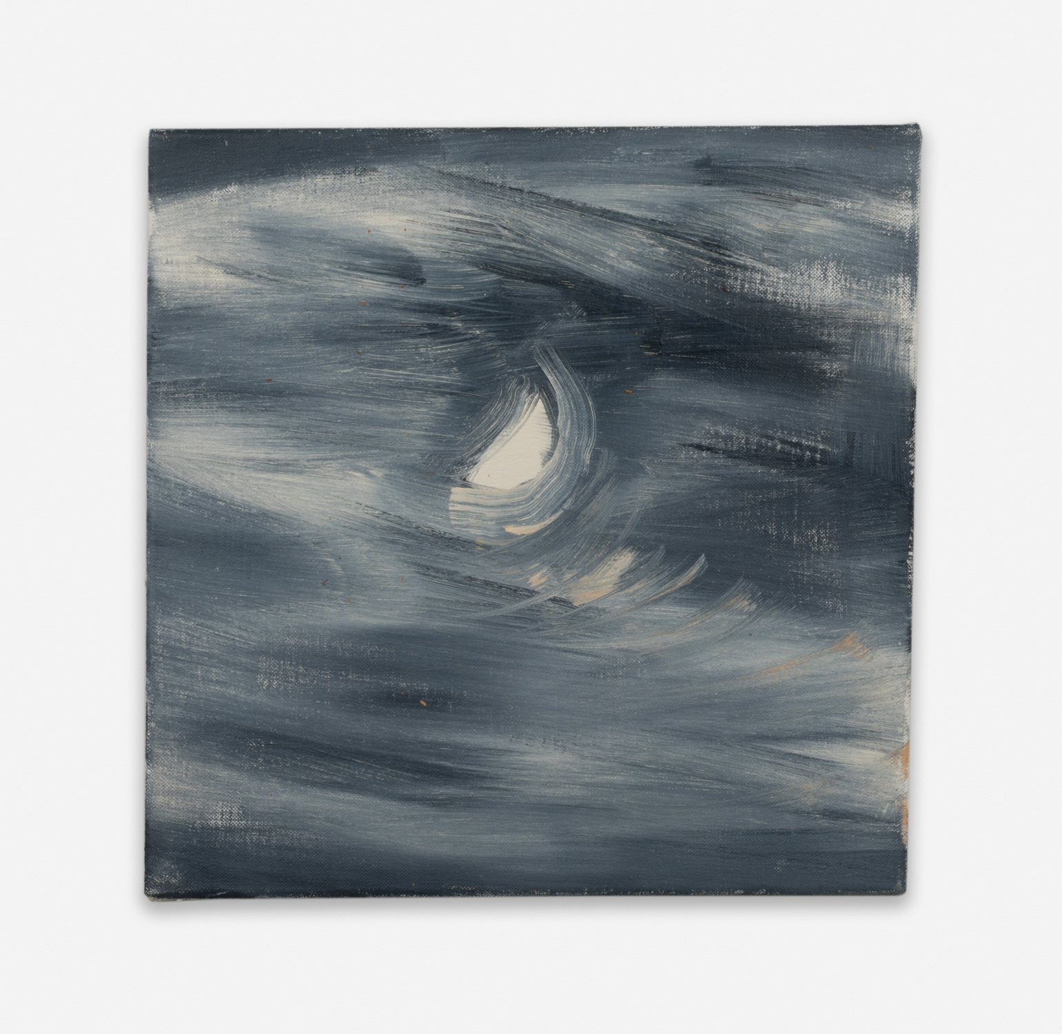 Ann Craven  Moon (Guilford, 8-25-12, 10:18PM), 2012  2012 Oil on linen 14h x 14w in AC127