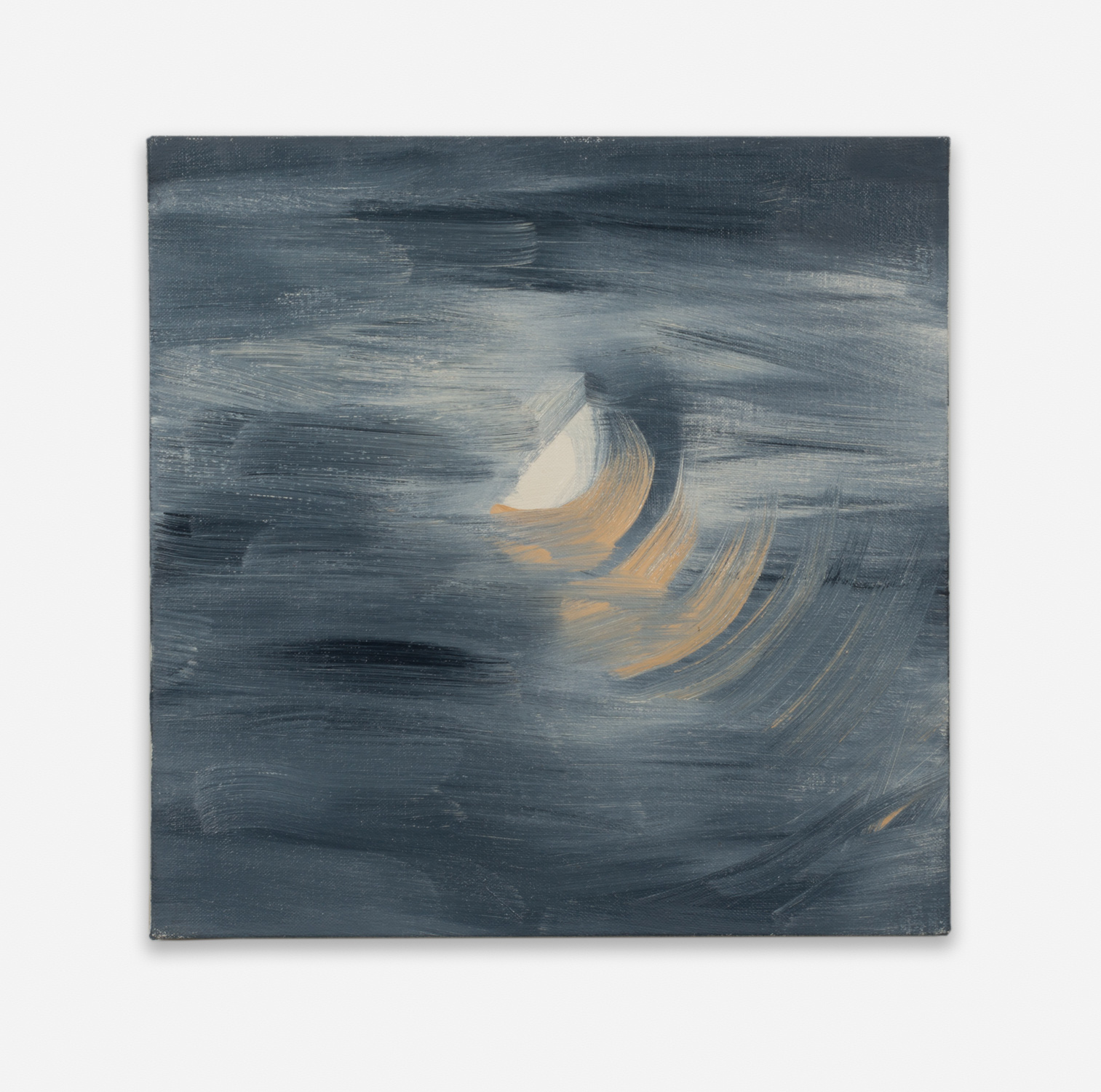 Ann Craven  Moon (Guilford, 8-25-12, 10:30PM), 2012  2012 Oil on linen 14h x 14w in AC129