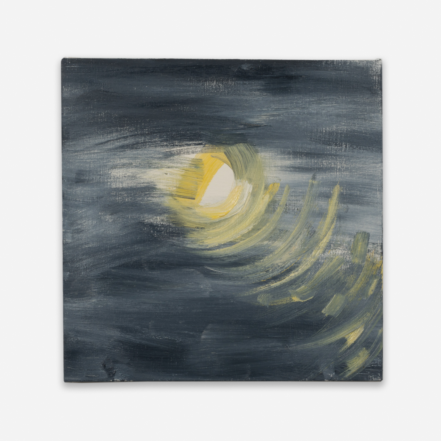 Ann Craven  Moon (Guilford, 8-25-12, 10:48PM), 2012  2012 Oil on linen 14h x 14w in AC130