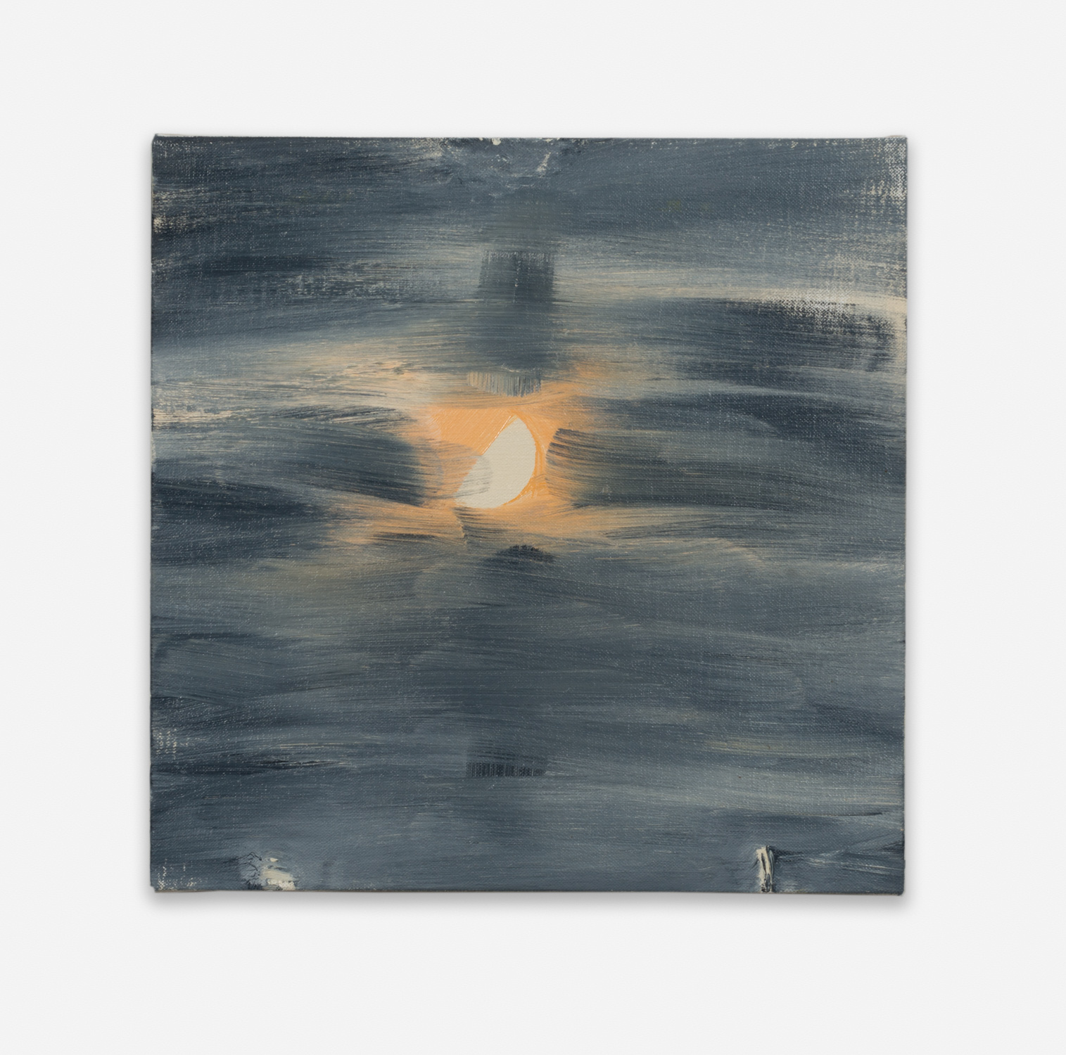 Ann Craven  Moon (Guilford, 8-25-12, 11:31PM), 2012  2012 Oil on linen 14h x 14w in AC132