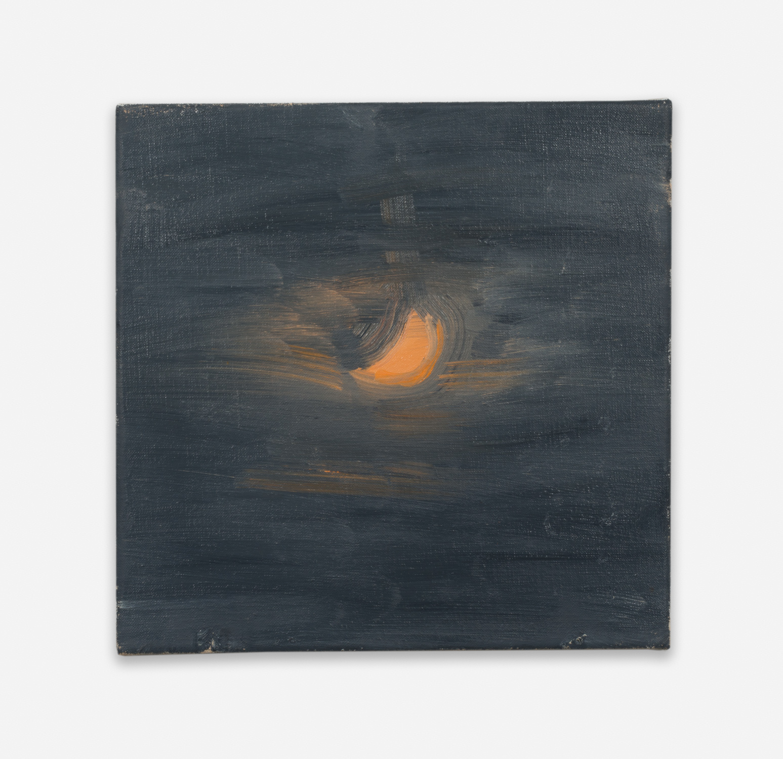 Ann Craven  Moon (Guilford, 8-26-12, 12:22AM), 2012  2012 Oil on linen 14h x 14w in AC135