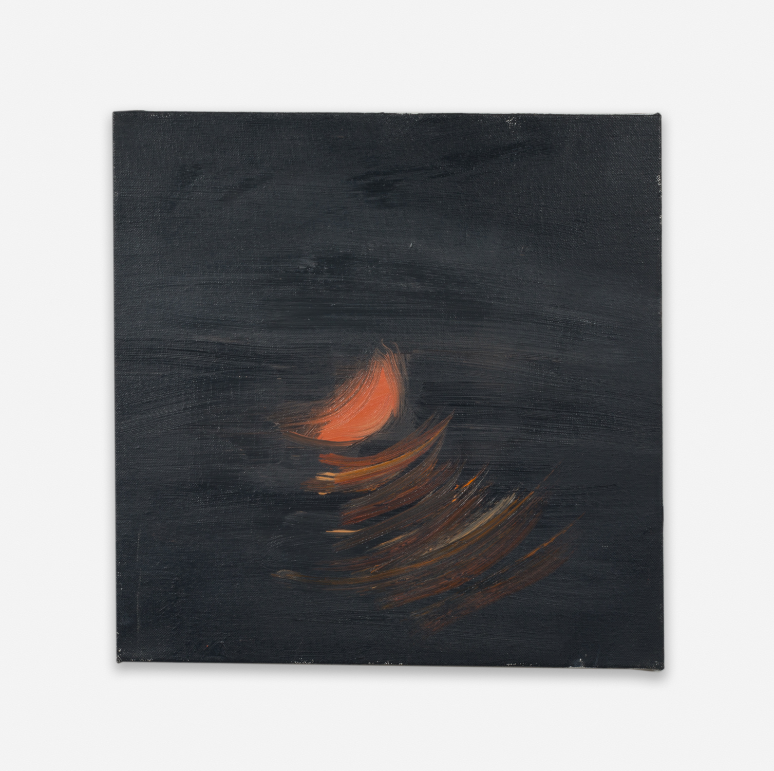 Ann Craven  Moon (Guilford, 8-26-12, 12:30AM), 2012  2012 Oil on linen 14h x 14w in AC136