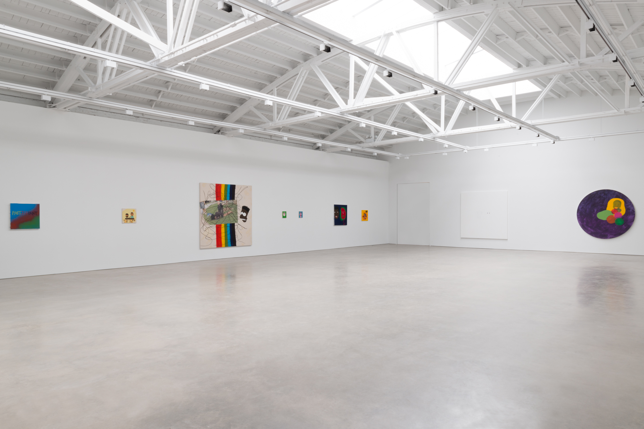 David Leggett  Their funeral, our dance floor  2017 Installation view Shane Campbell Gallery, South Loop