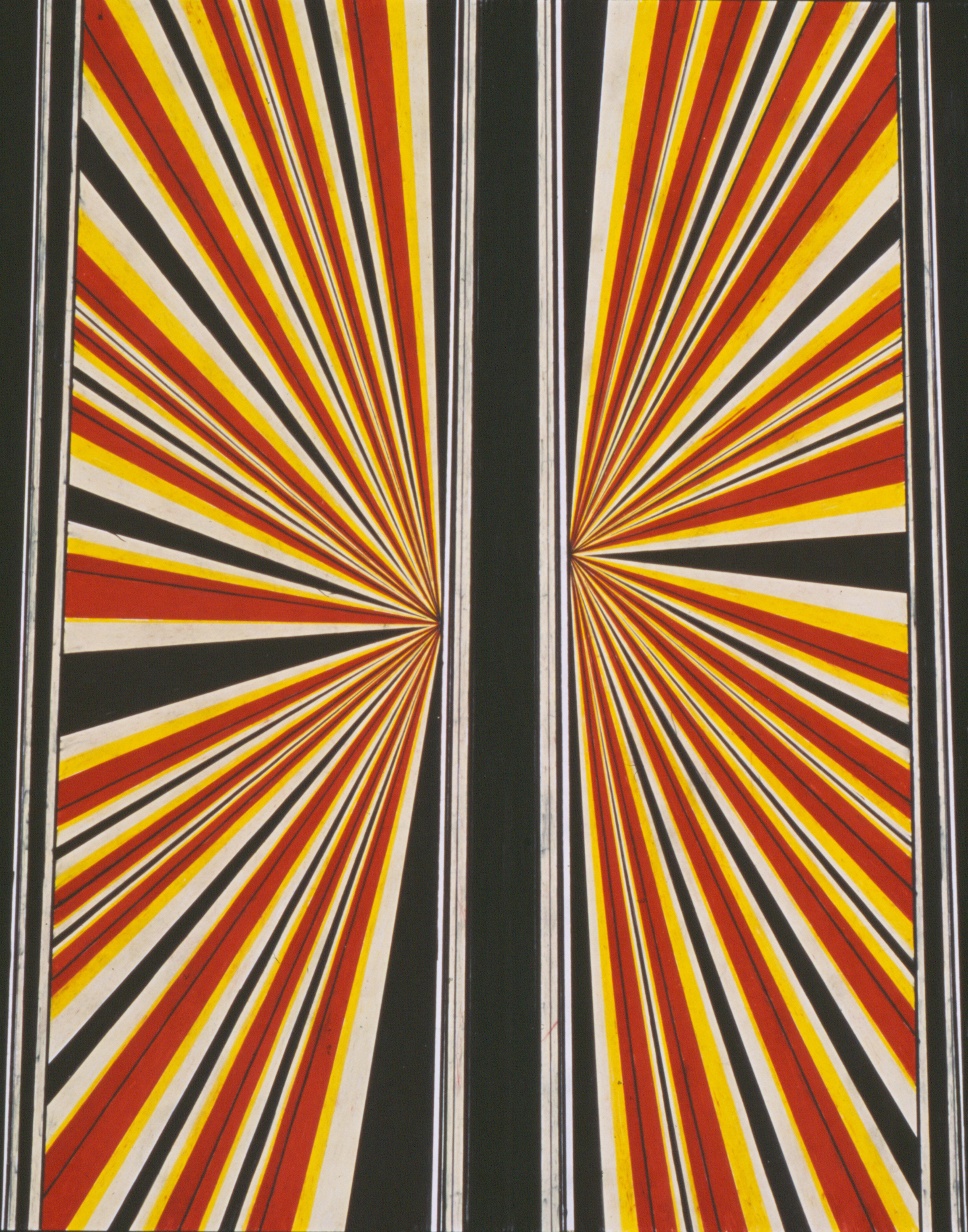 Mark Grotjahn Untitled 2002 Colored pencil on paper 24 x 19 in (60.96h x 48.26w cm) MG985