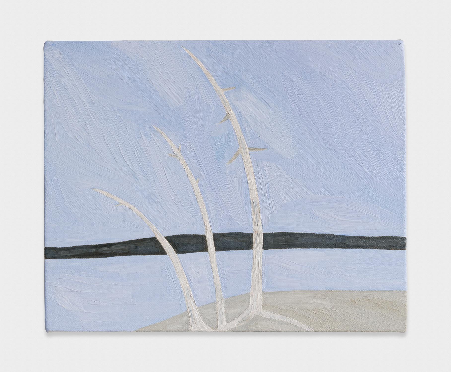 Yuko Murata  three trees  2013 Oil on canvas 8 ⅔h x 10 ⅘w in YukoM002