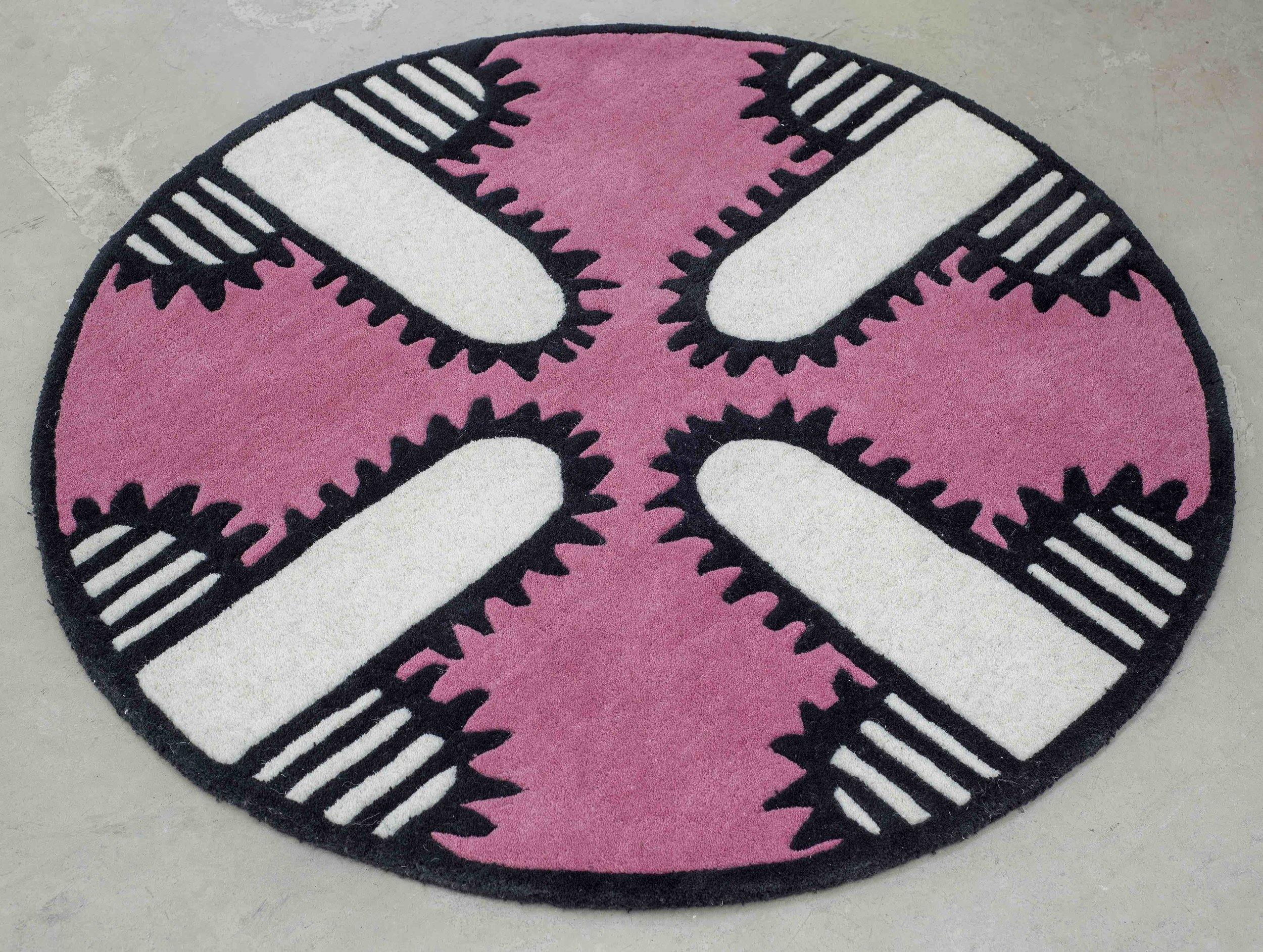 Joanne Tatham and Tom O'Sullivan  Are You LOCATIONALIZED (rug)  2016 Hand-tufted wool rug ¼h x 37 ⅘w x 37 ⅘d in JTTO006
