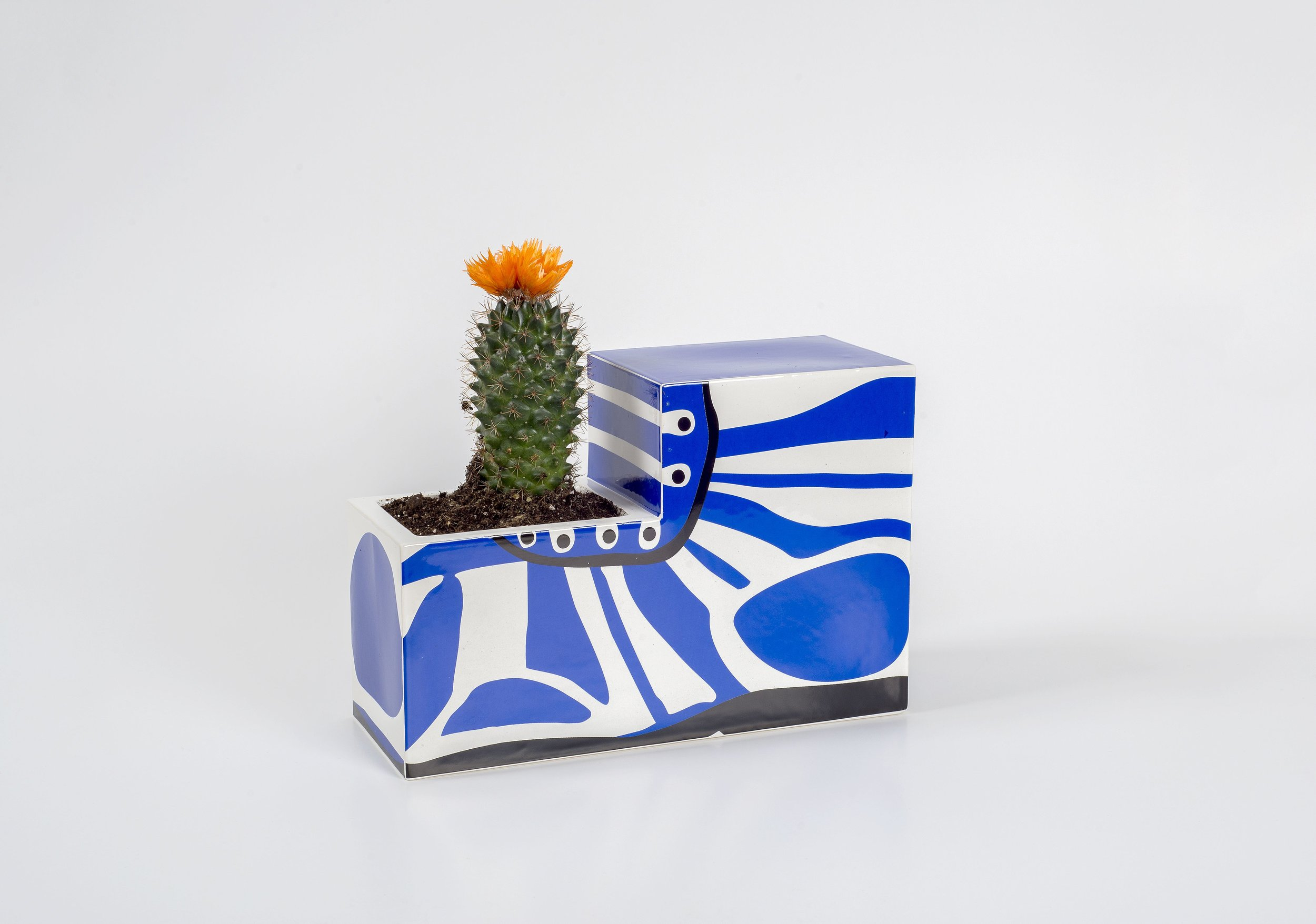 Joanne Tatham and Tom O'Sullivan  The indirect exchange of uncertain value (boot planter)  2013 Glazed ceramic 6 ¾h x 9 ⅘w x 3 ¾d in JTTO001