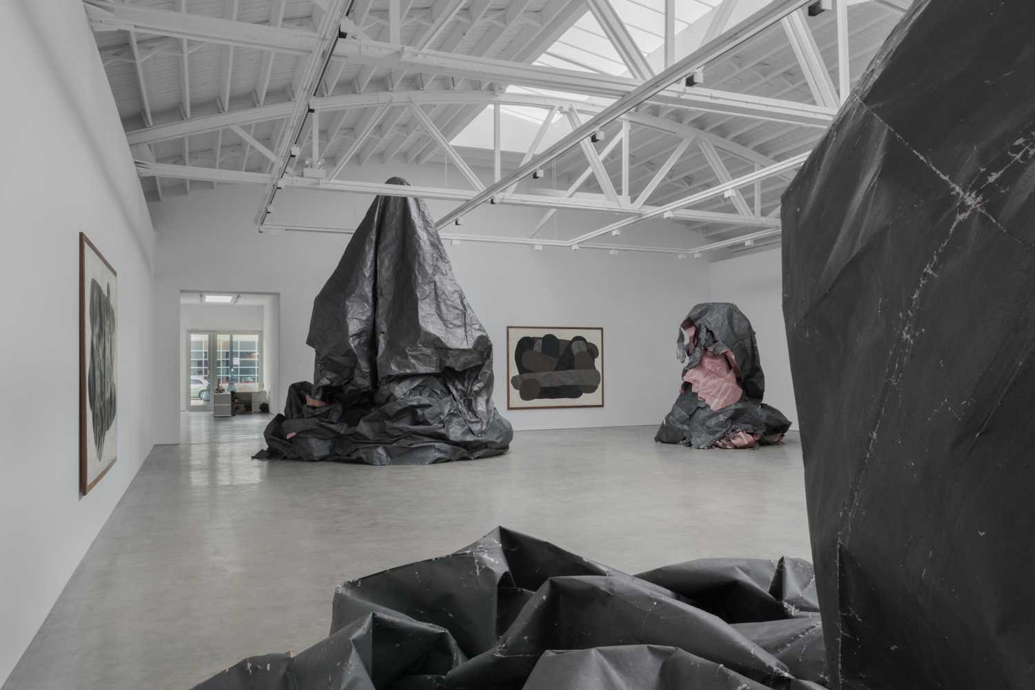 Tony Lewis  Howling  2017 Installation view Shane Campbell Gallery, South Loop