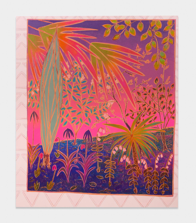 John McAllister  such spells glittery  2017 Oil on canvas 72h x 61w in JMC023