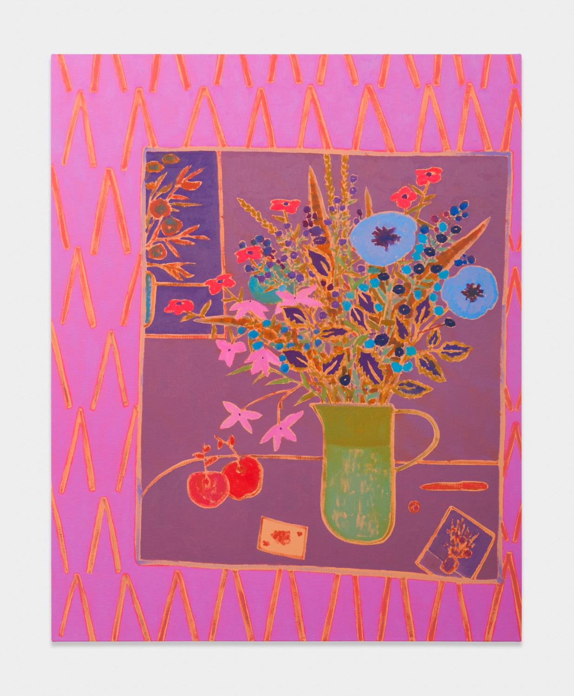 John McAllister  sonorous regards rusty  2017 Oil on canvas 47h x 38w in JMC027