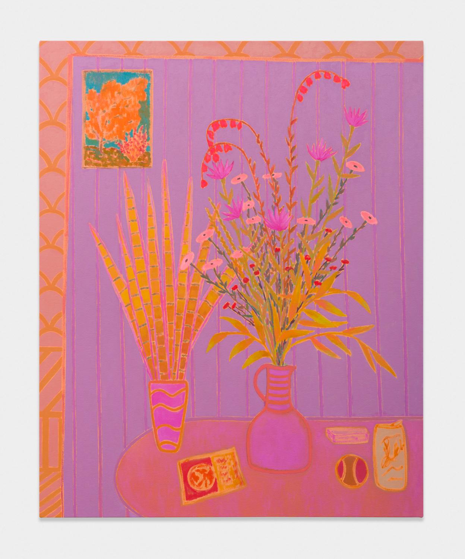 John McAllister  incantations drift dreamy  2017 Oil on canvas 47h x 38w in JMC030