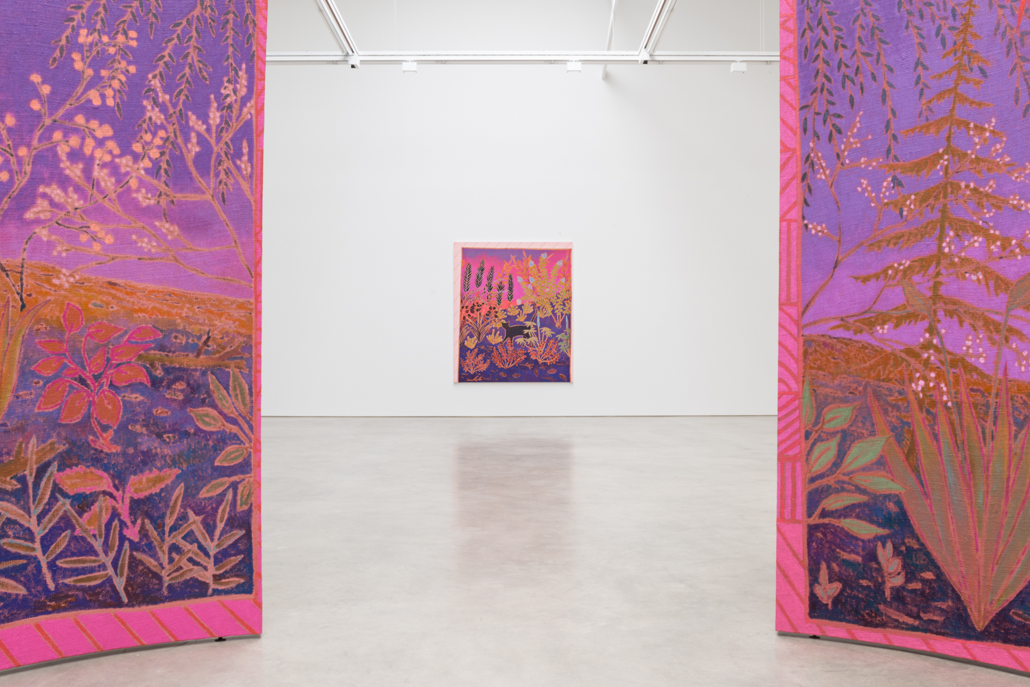 John McAllister  botanic haunting soft-static  2017 Installation view Shane Campbell Gallery, South Loop