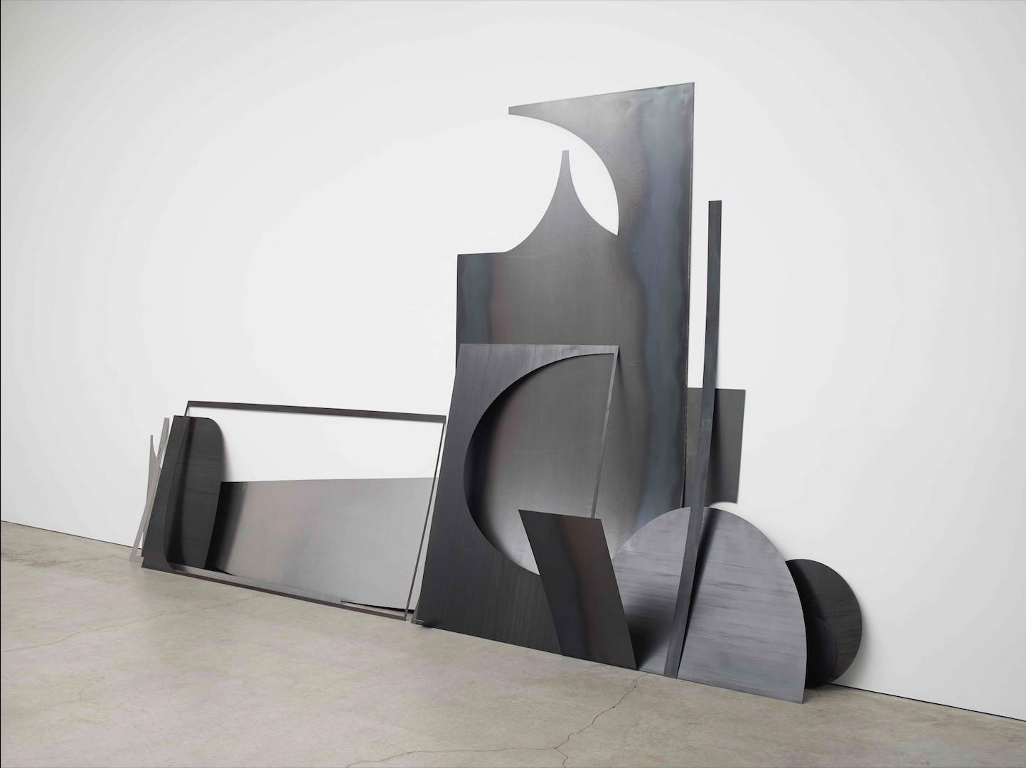 Erin Shirreff  Drop (no. 14)  2015 Hot-rolled, cold-rolled, and Cor-ten steel 117 ¼h x 214 ½w x 34d in