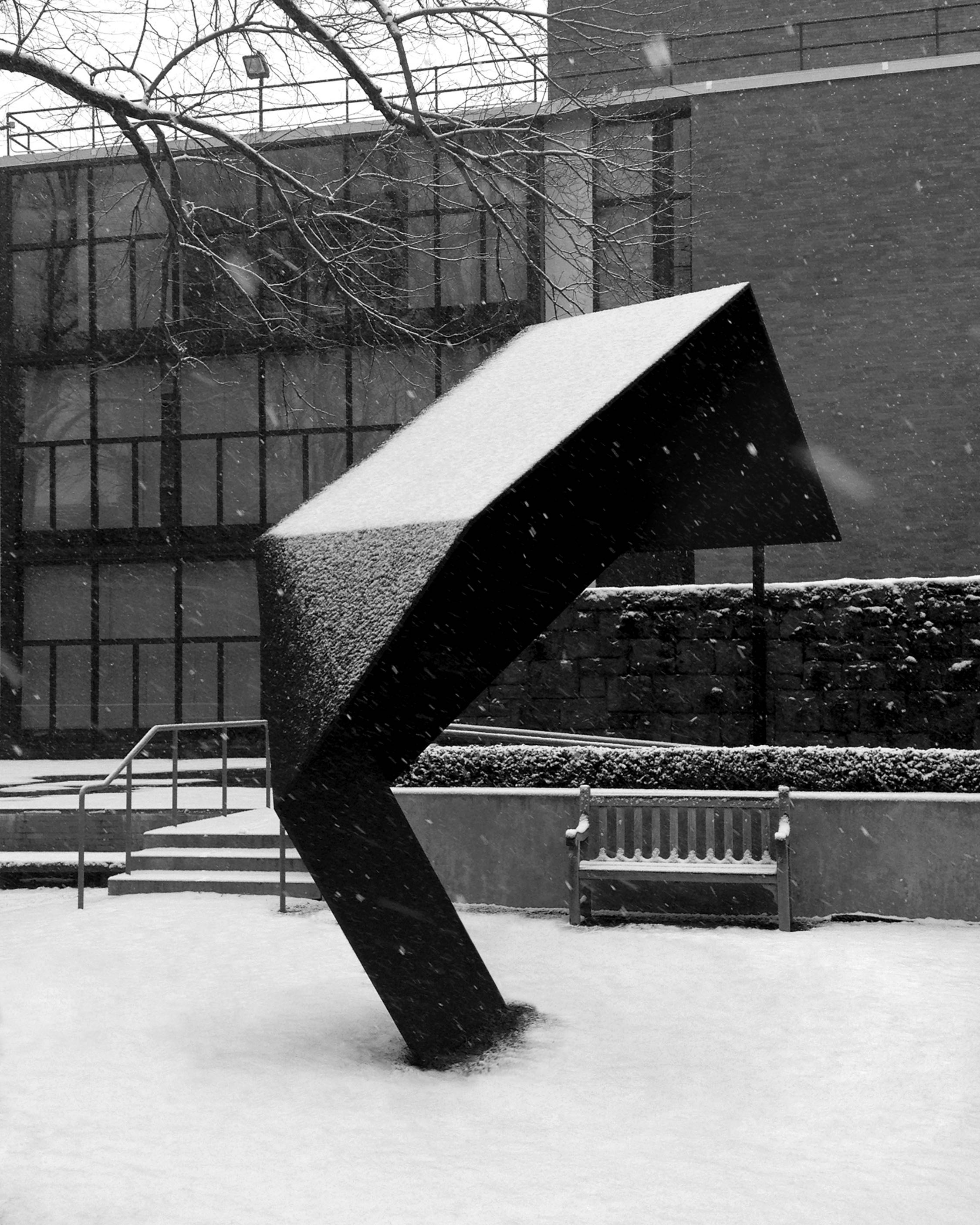 Erin Shirreff  Sculpture for Snow  2011 Painted aluminum 136 ½h x 54w x 115 ½d in
