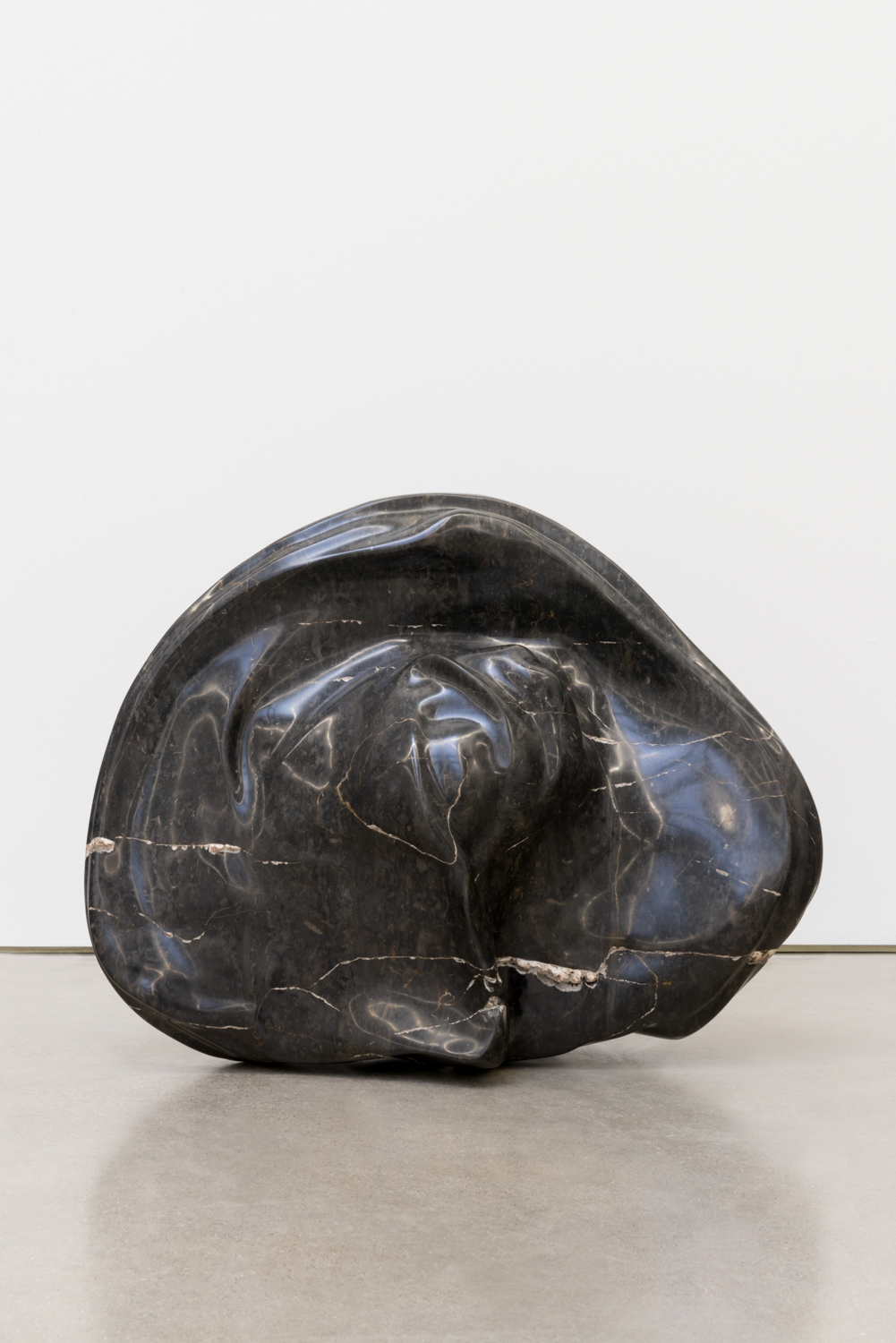 Alma Allen  Not Yet Titled  2016 Found black marble 18h x 22w x 9d in AA049