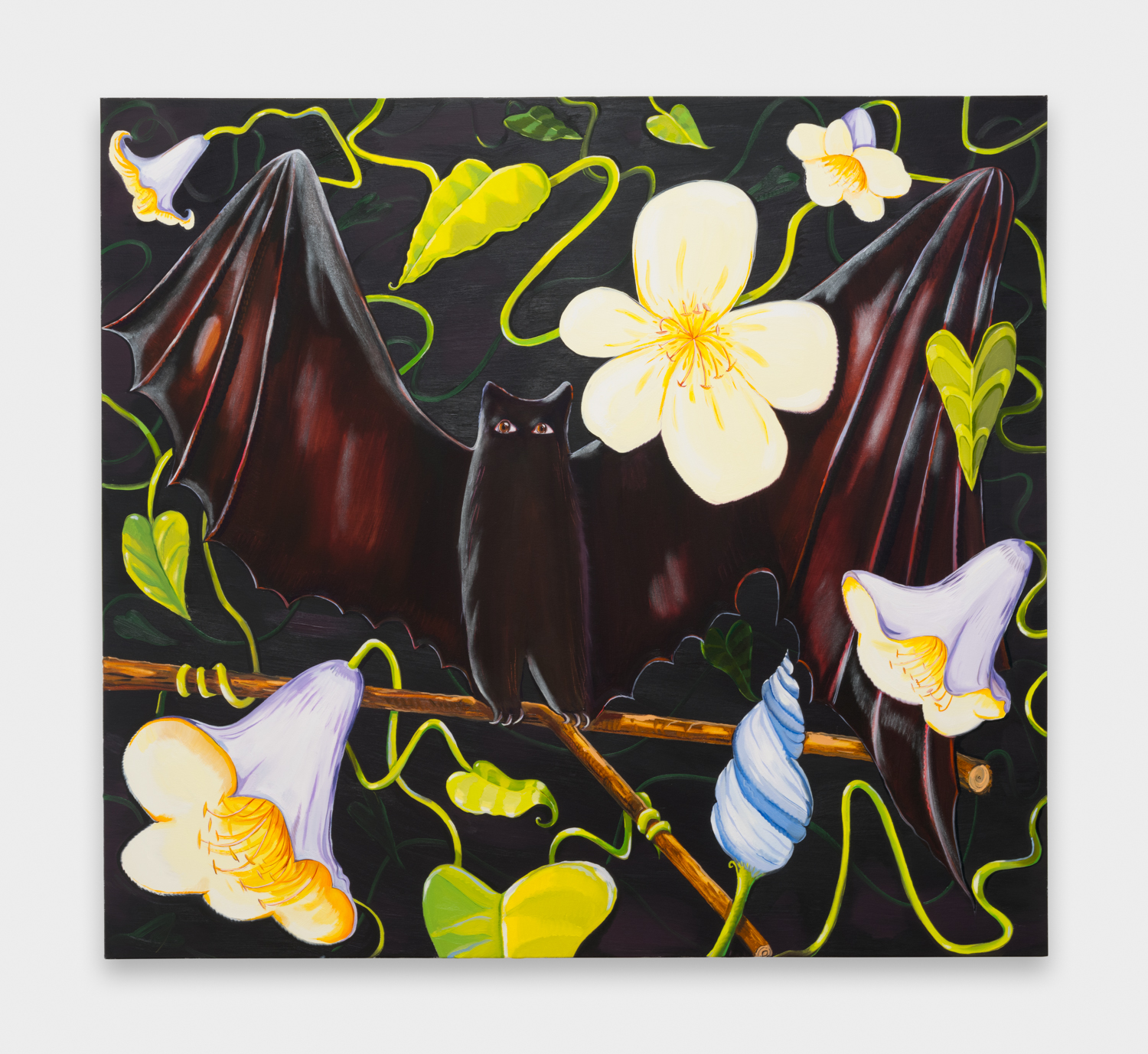 NikkiMaloof  Moonflowers Close  2018 Oil on canvas 62h x 68w in NM035