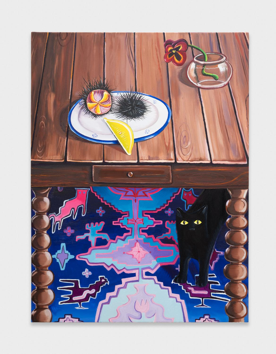 NikkiMaloof  Still Life with Urchin  2018 Oil on canvas 48h x 36w in NM030