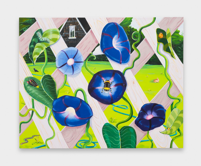 NikkiMaloof  Through the Lattice  2018 Oil on canvas 48h x 60w in NM039