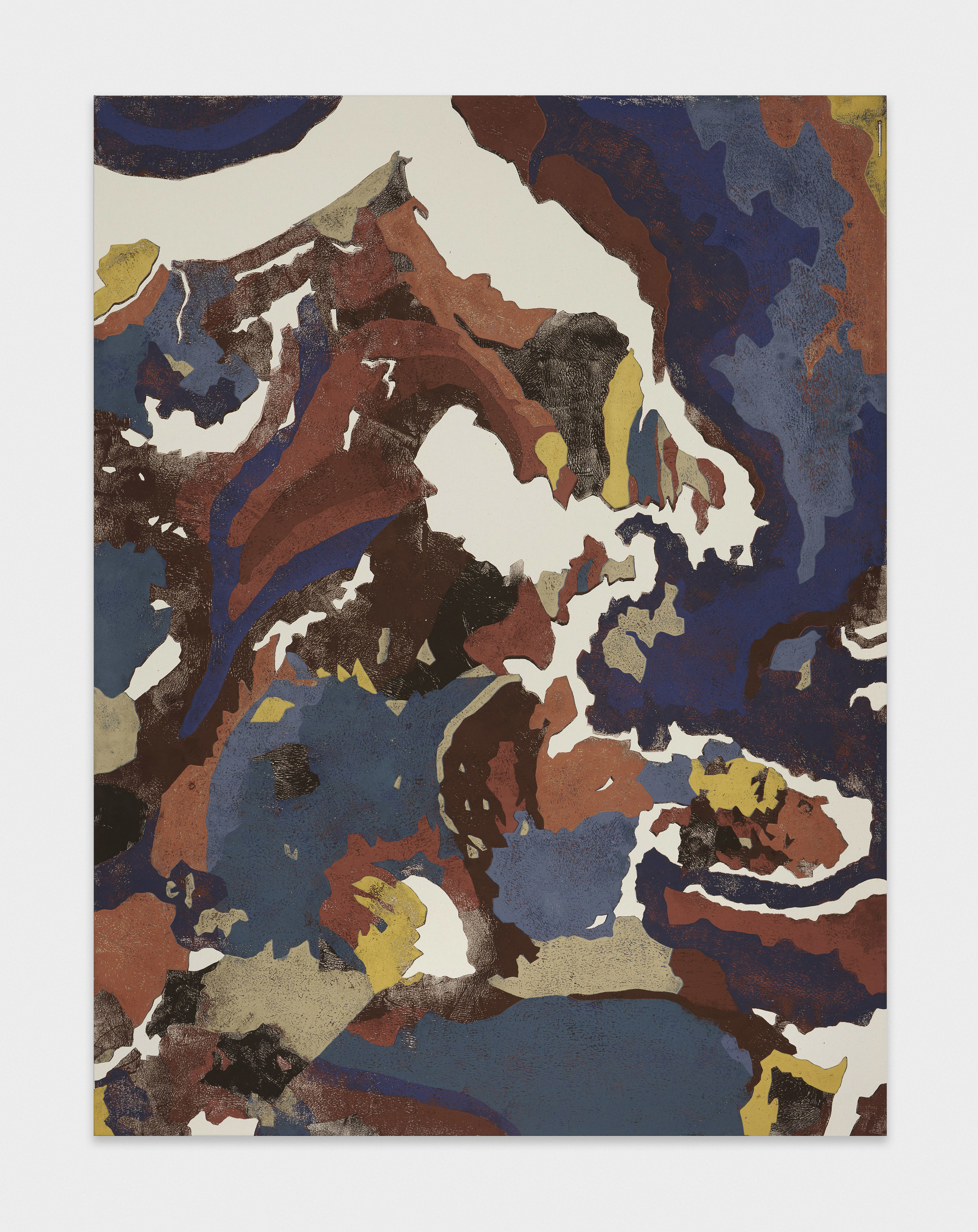 Kour Pour  Neotectonic Map Tokyo  2016 Block printing ink on canvas 78 3/4h x 60w in