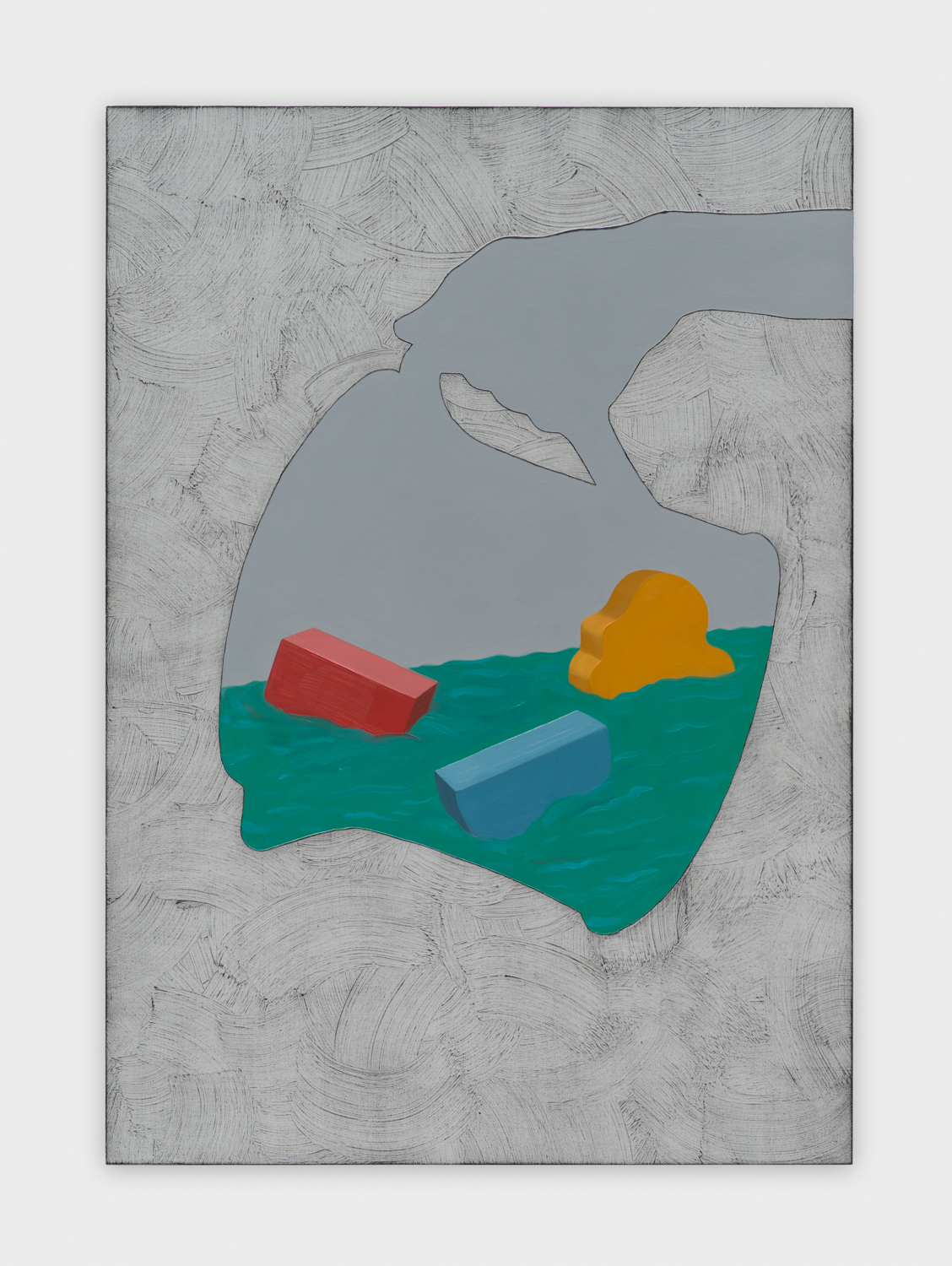 Alex Olson  Vessel (With Nod to Alberto Savinio)  2015 Oil and modeling paste on canvas 41h x 29w in AO180