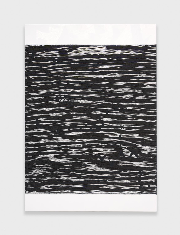 Alex Olson  Score  2010 Oil on linen 41h x 29w in AO023