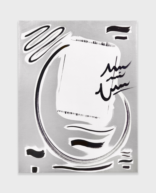 Alex Olson  Jane Birkin Autograph (2/2)  2009 Oil on linen 18h x 14w in AO018
