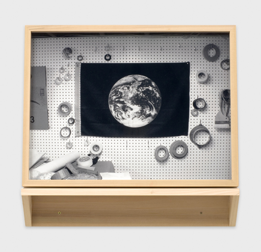 Amanda Ross-Ho  Untitled Detail (Atmosphere)  2007 Light jet print mounted and framed with wooden shelf 24h x 28w in