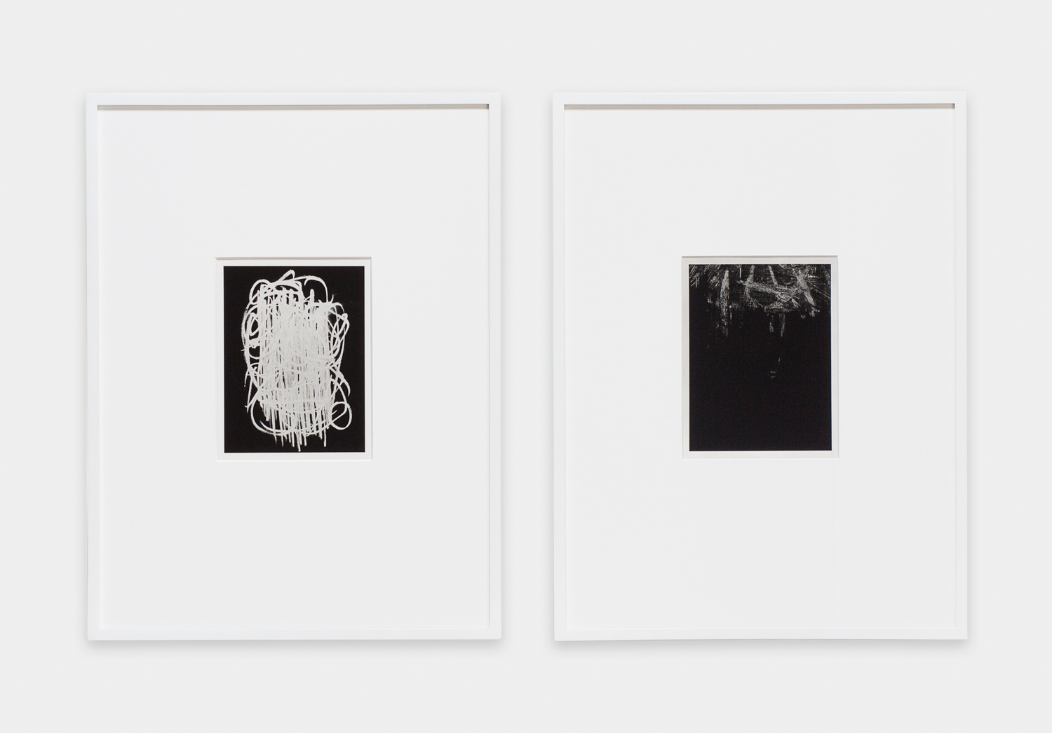 Anthony Pearson  Untitled (Solarization Diptych)  2011 Solarized silver gelatin photographs in artist's frames 17 ½h x 28w in AP272