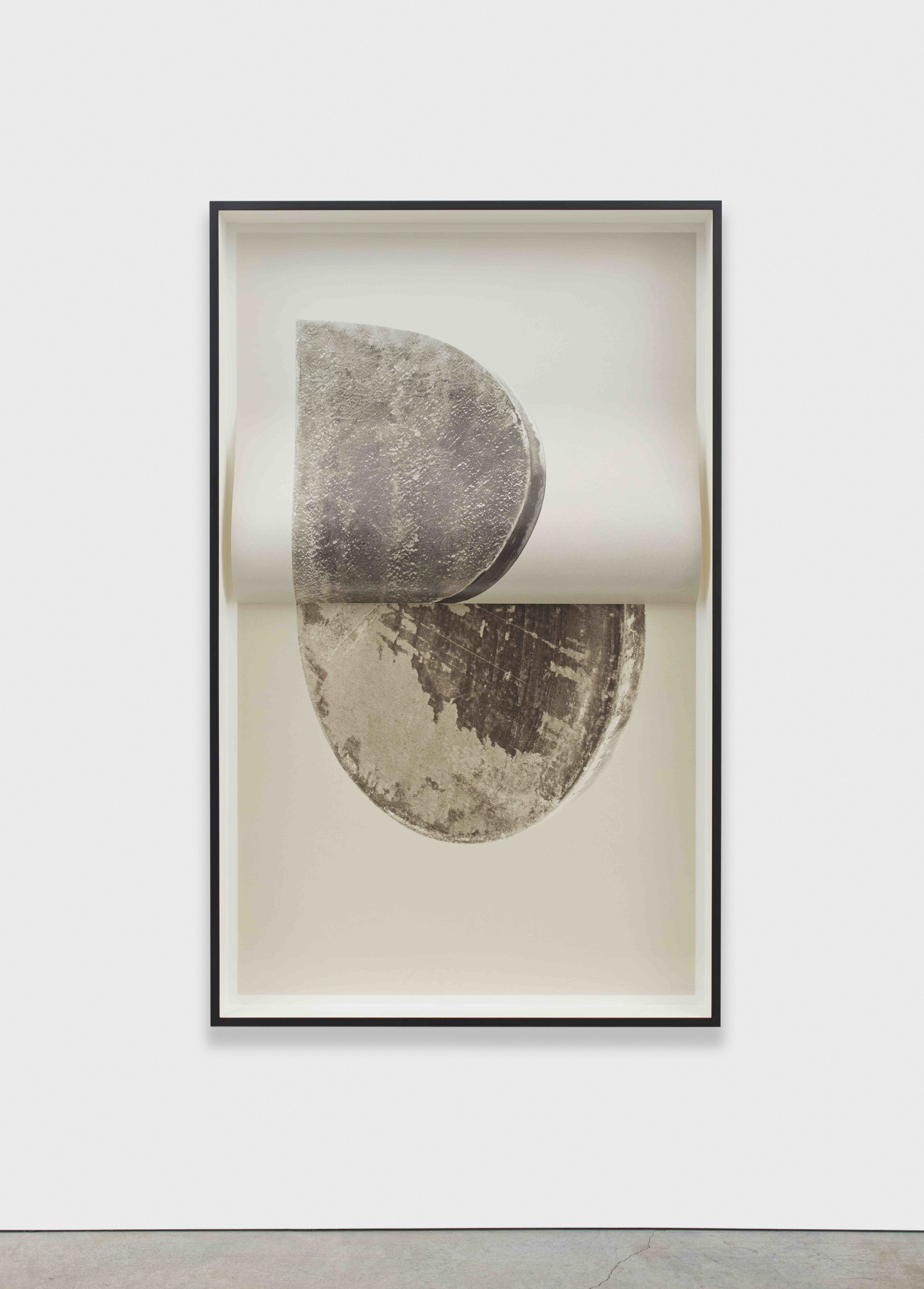 Erin Shirreff  Relief (no. 3)  2015 Archival pigment print 72h x 42w in, with fold