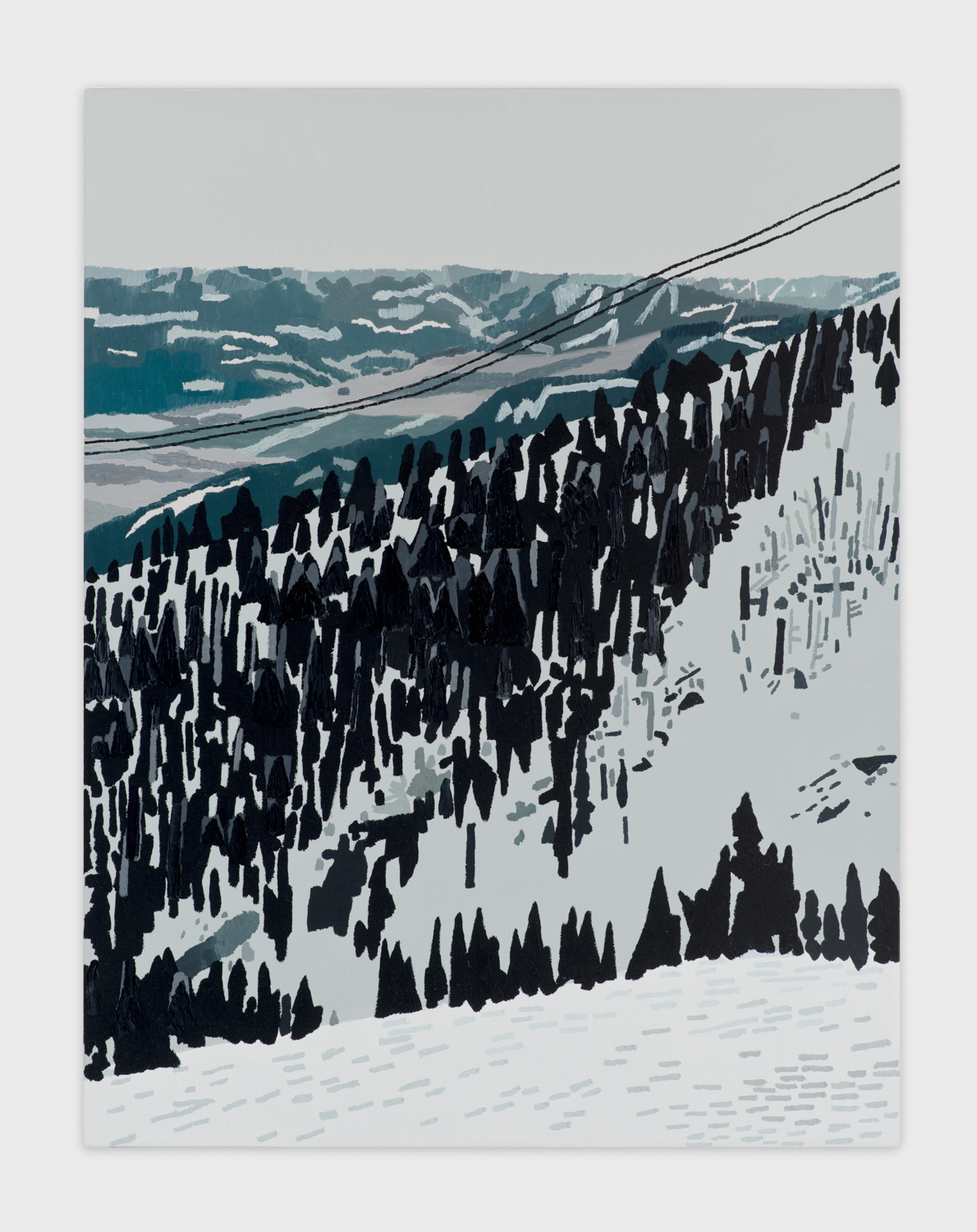 Jonas Wood  Jackson Hole Wyoming  2013 Oil and acrylic on linen 35h x 27w in  JW152
