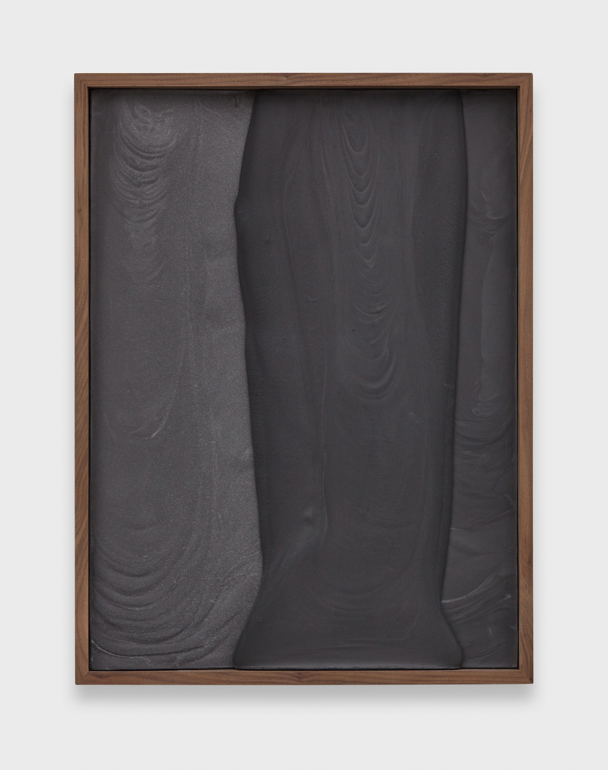 Anthony Pearson  Untitled (Plaster Positive)  2015 Pigmented hydrocal in walnut frame  28 ½h x 21 ½w x 3d in  AP371