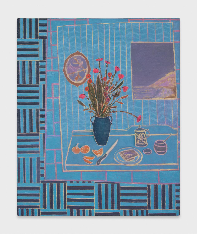 John McAllister  Showy Flowers Ocean Views  2012 Oil on canvas 35h x 29w in JMC006
