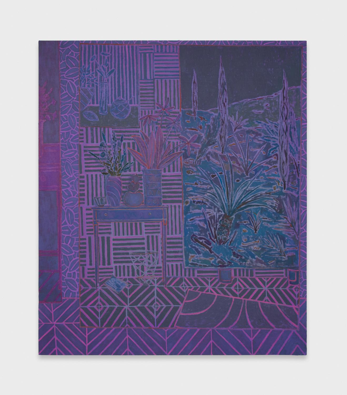 John McAllister  Echoes Blazon Days  2012 Oil on canvas 55h x 47w in JMC011
