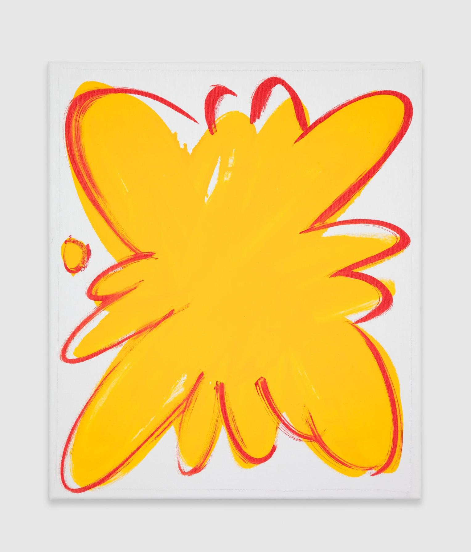 Paul Cowan  Untitled  2012 Enamel on canvas 21h x 18w in PC019