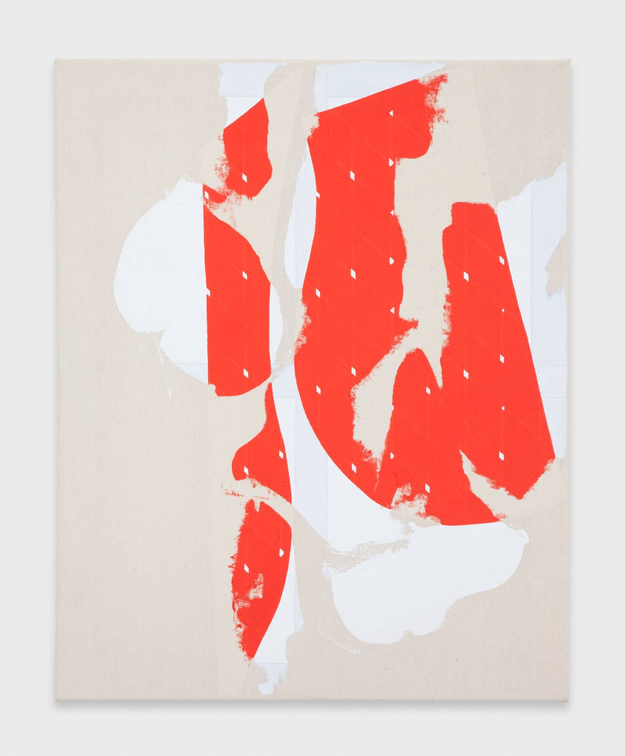 Zak Prekop  Red Transparency  2011 Oil and paper on canvas 25h x 20w in ZP152