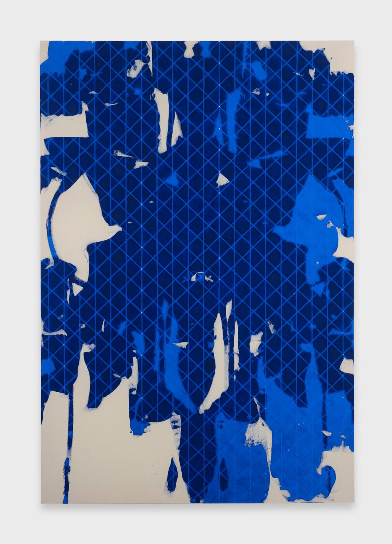 Zak Prekop  Untitled (Blue)  2011 Oil on canvas 84h x 57w in ZP139