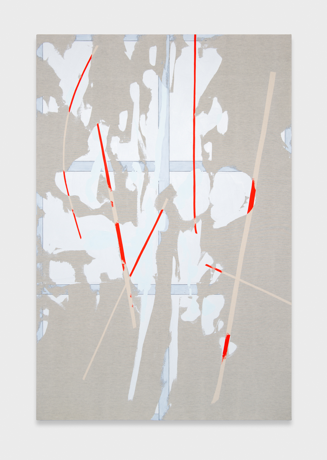 Zak Prekop  Transparency with Black Ground and Color  2012 Oil and paper on canvas 72h x 48w in ZP259