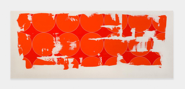 Zak Prekop  Circles  2014 Oil on muslin 40h x 96w in ZP301