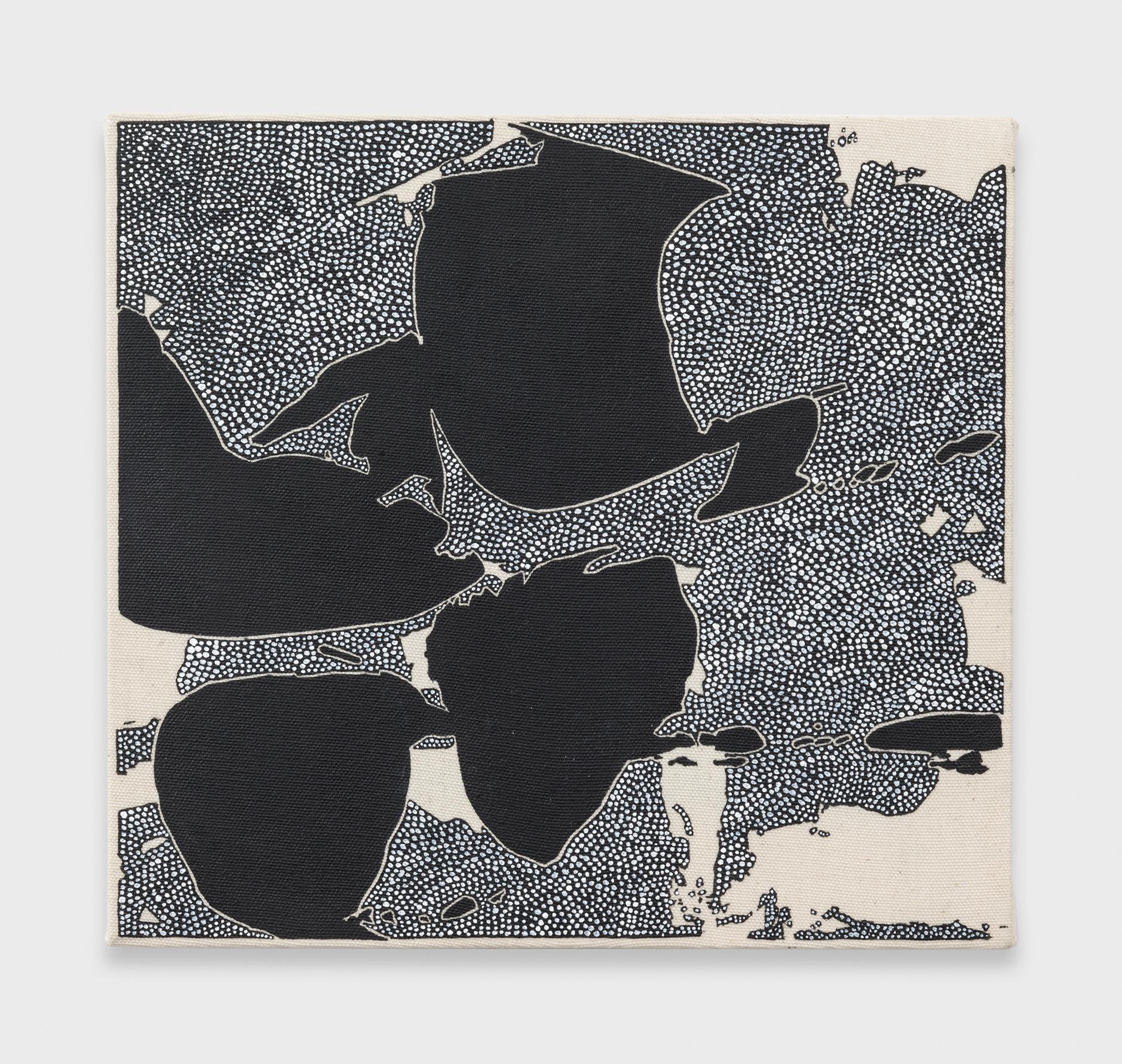 Zak Prekop  Black with Unmeasured Pattern  2015 Oil on canvas 10h x 11w in ZP334